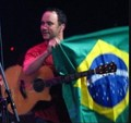 Dave in Brazil with our Flag