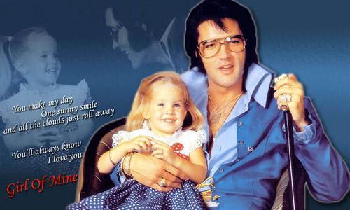 Elvis & Lisa karatasi la kupamba ukuta