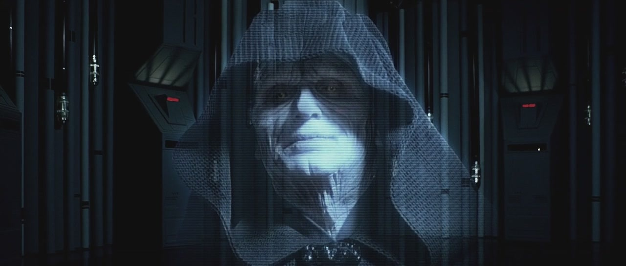 Emperor hologram- sith master Darth Sidious