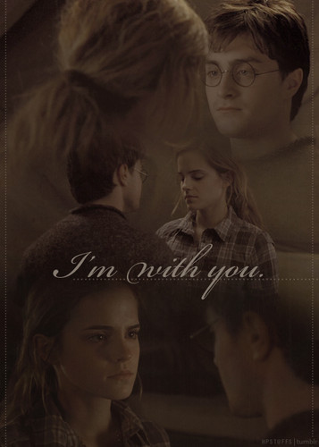 harry y hermione fondo de pantalla containing a portrait entitled fan Art