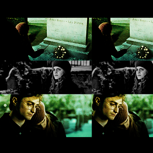 Harry and Hermione wallpaper probably containing a sign called Fan Art