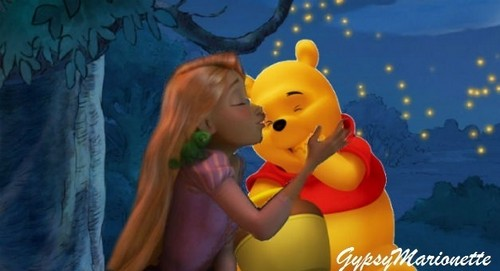 friends - Rapunzel and Winnie the Pooh