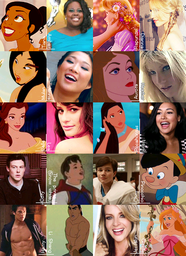 glee and disney