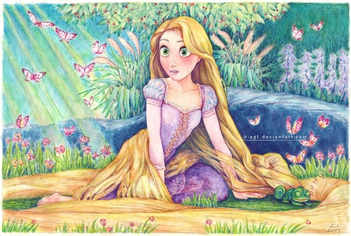 Good morning Rapunzel - flynn-and-rapunzel Fan Art