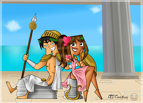 Duncan and Courtney wallpaper probably with anime entitled Greek Gods
