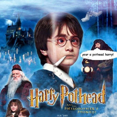 Harry Potter wallpaper probably with anime entitled Harry the Pothead