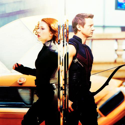 Hawkeye & Black Widow <3