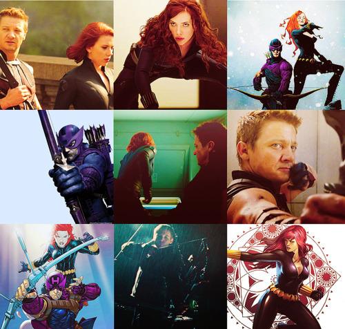 Hawkeye & Black Widow karatasi la kupamba ukuta entitled Hawkeye & Black Widow <3