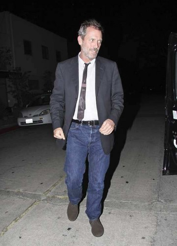Hugh Laurie leaving Jar restaurant in Los Angeles, after a meeting. 23.10.2011
