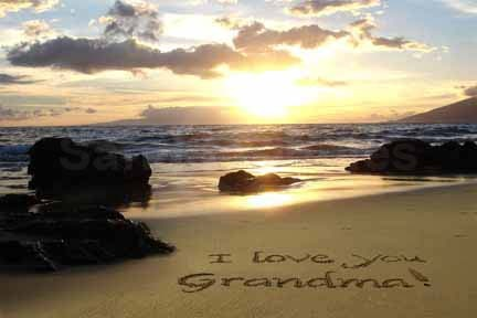 Precious and sweet grandma afbeeldingen i love u achtergrond and precious and sweet grandma achtergrond probably containing a sunset and a strand titled i love u voltagebd Images