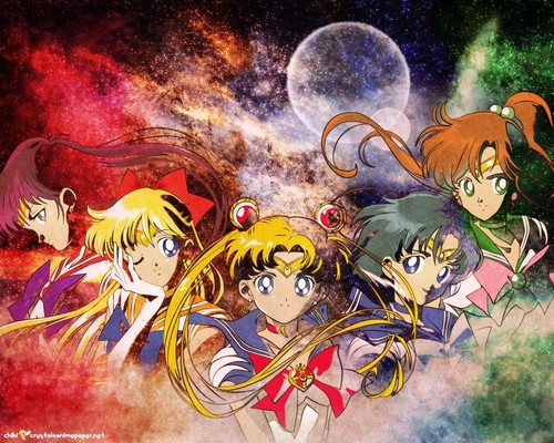 Bakugan and Sailor Moon! wallpaper with anime called Inner Senshi