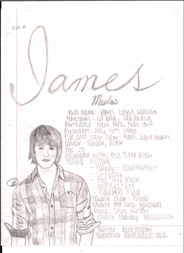 James drawing with facts