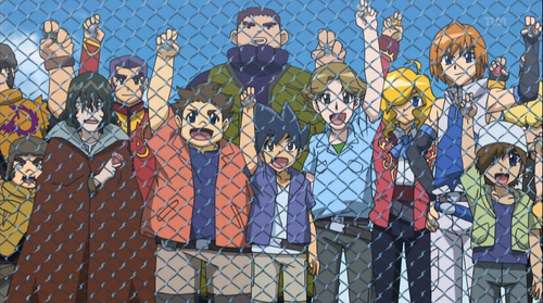 Beyblade Metal Fusion achtergrond containing a chainlink fence called Japan's Spirit