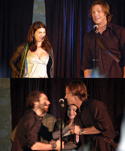 Jared Padalecki & Genevieve Cortese wallpaper with a concert titled Jared&Gen