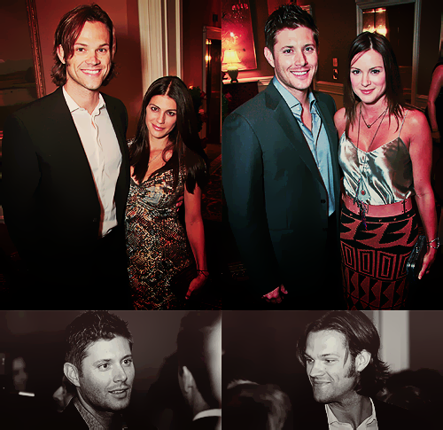 Jared Padalecki & Genevieve Cortese wallpaper containing a business suit and a suit titled Jared&Gen