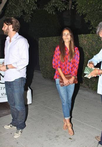 Jordana - and her Husband Have makan malam at Mastro's with Alden Brewster, July 26. 2011