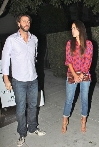 Jordana - and her Husband Have cena at Mastro's with Alden Brewster, July 26. 2011