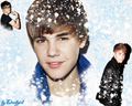 Justin Bieber happy winter - justin-bieber wallpaper