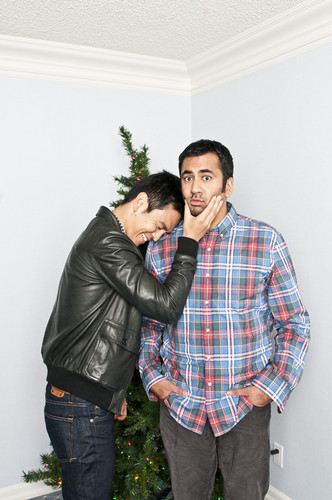 Kal Penn wallpaper probably with a well dressed person, long trousers, and a pantleg entitled Kal Penn & John Cho Photo for The Varsity