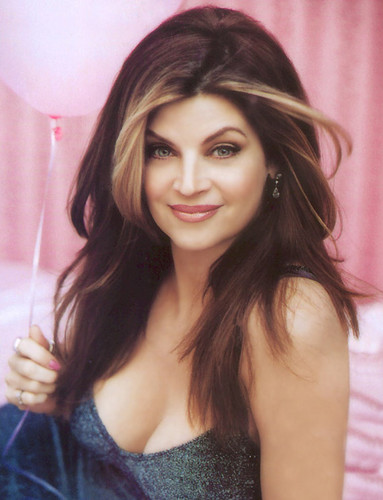 Kirstie Alley 壁紙 possibly containing a parasol, a カクテル dress, and a portrait titled Kirstie Alley