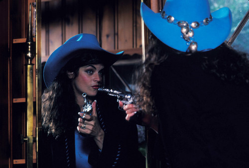 Kirstie Alley wallpaper containing a snap brim hat, a campaign hat, and a fedora titled Mark Sennet Photoshoot 1982