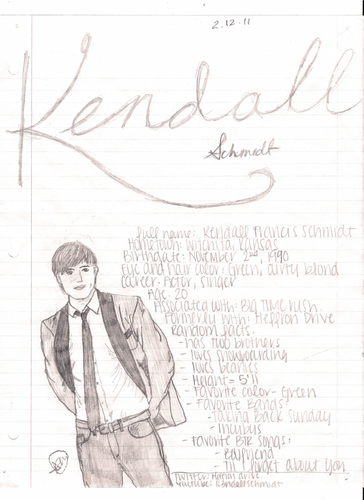 My Kendall drawing with facts.