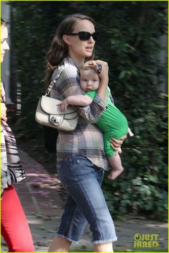 Natalie Portman & Baby Aleph Visit A Friend