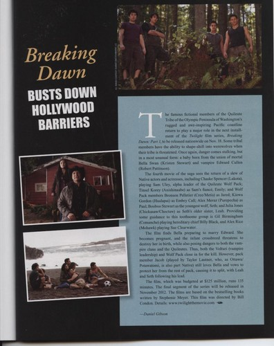New 'Breaking Dawn' Image in 'Native Peoples' Magazine