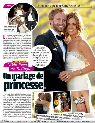 New ' Public' magazine scan featuring new pics from Nikki and Paul's wedding.