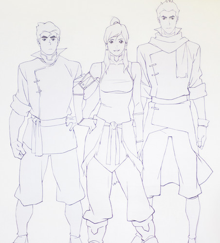 New Team Avatar sketches