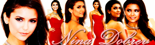 Nina Dobrev - Banner (emmy awards 2011)