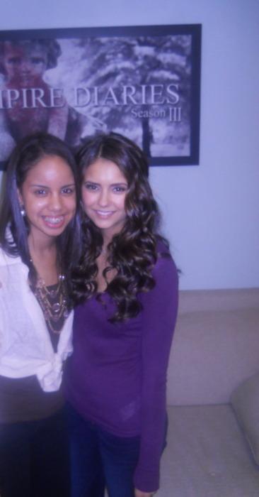 Nina on the set of 'Homecoming