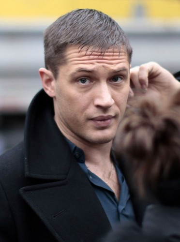 Tom Hardy wallpaper containing a business suit entitled On the set 'This Means War'