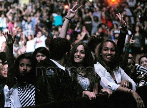 Paris Jackson at Chris Brown's 音乐会