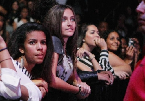Paris Jackson at Chris Brown's concert