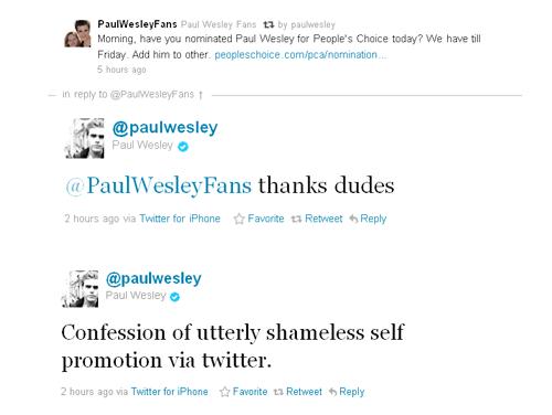 Paul Wesley PCA