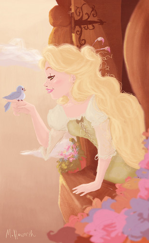 """Rapunzel """"You are ready to fly"""""""