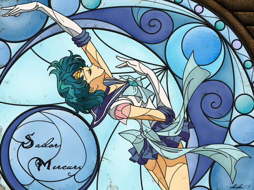 Bakugan and Sailor Moon! দেওয়ালপত্র with জীবন্ত entitled Sailor Mercury/Ami Mizuno