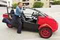 Stana Katic Arcimoto SRK Test Drive