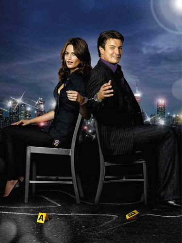 Nathan Fillion & Stana Katic wallpaper containing a business suit, a well dressed person, and a suit called Stana & Nathan