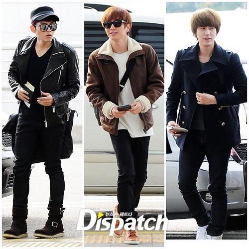 Super Junior hiển thị off their airport fashion