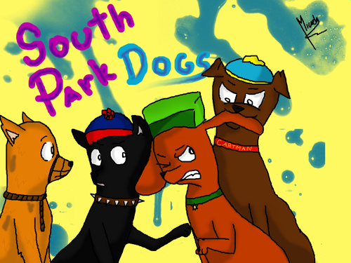 south park fondo de pantalla with anime entitled The perros of South Park.