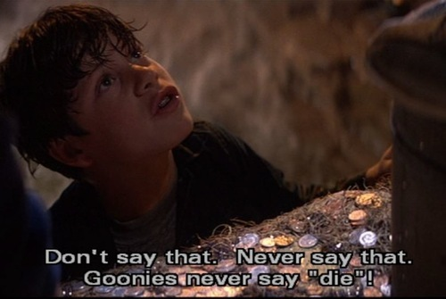 The Goonies দেওয়ালপত্র possibly containing a আগুন titled The Goonies