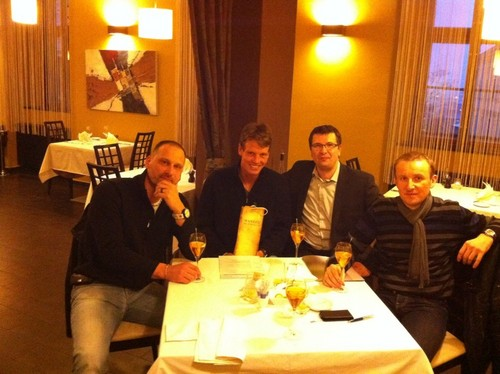 Tomas Berdych in the restaurant