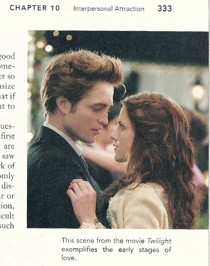 Twilight featured in a textbook