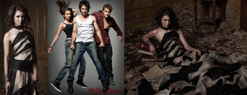 the vampire diaries wallpaper probably with a makan malam dress titled Vampire Diaries fan art
