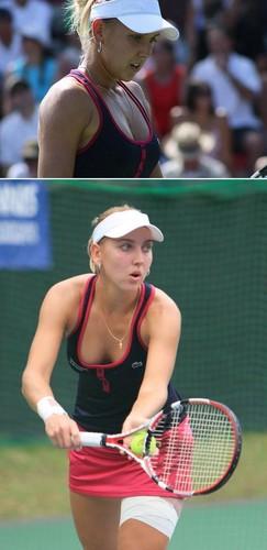 Elena Vesnina in Red Black Dread