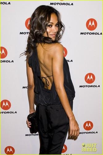 Zoe Saldana: Motorola Droid & Motoactv Launch Party!