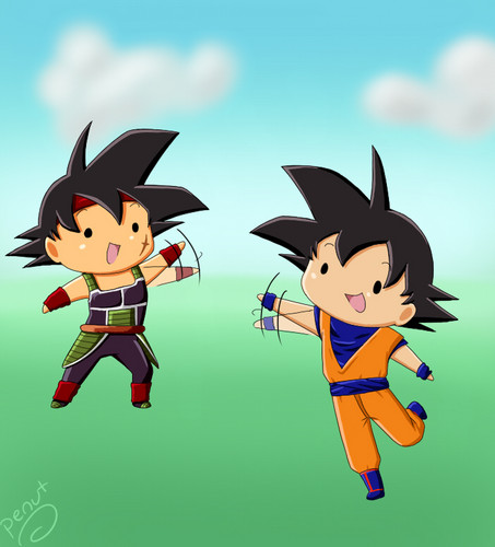bardock and 고쿠 chibis