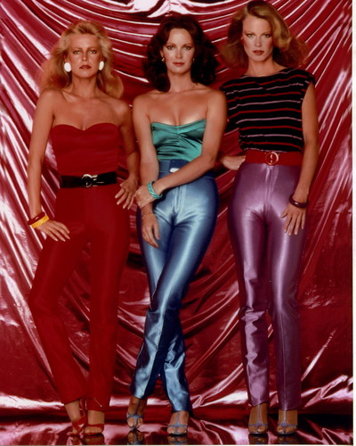 Charlie's Angels 1976 wallpaper probably containing bare legs, hosiery, and a playsuit titled charlie's angels